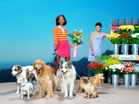 "Image #: 1150685    Keenyah poses for a 1-800-Flowers.com ad in an episode of  ""America's Next Top Model.""    UPN /Landov"