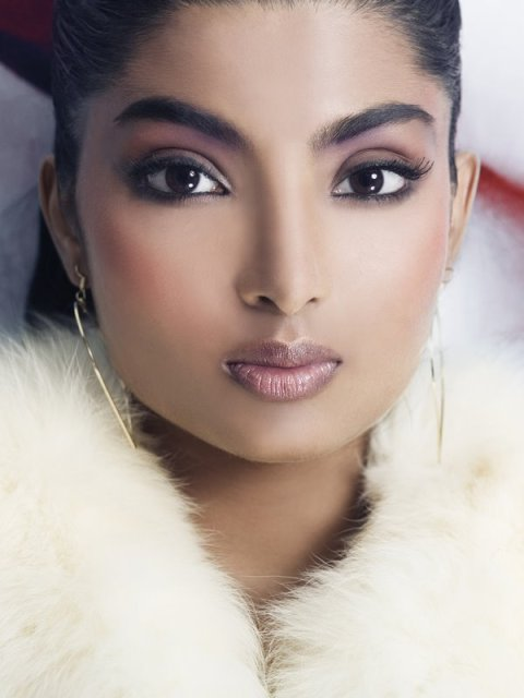 Sixth Look - nickzantopanchal6.tif White fox fur coat - Christian Dior - $3700 Silver heart-shaped hoop earrings - H&M - $25