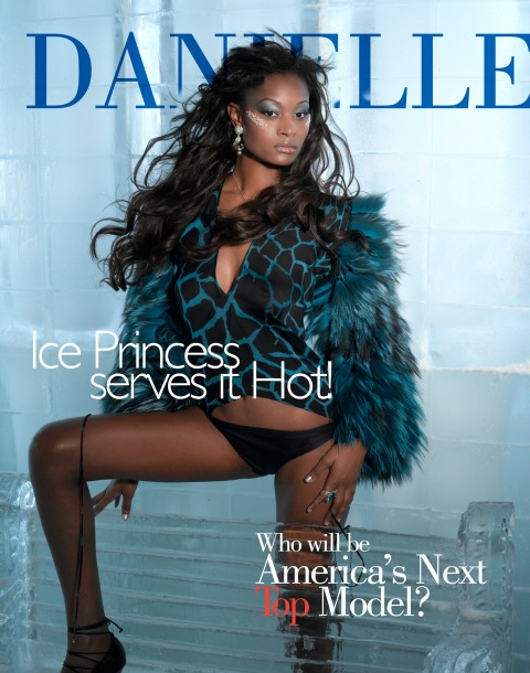 """The Girl Who is A True Miss Diva""--Danielle, Babysitter; age 20 of Little Rock, Ark., poses on a set made of ice in AMERICA'S NEXT TOP MODEL, (cycle 6) on UPN.   Gallery Photo: Richard Reinsdorf/UPN. ©2006 CBS Broadcasting Inc.  All Rights Reserved"