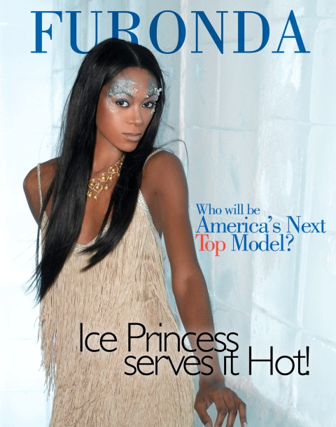"""The Girl Who is A True Miss Diva""--Furonda, Student; age 24 of Stuttgart, Ark., poses on a set made of ice in AMERICA'S NEXT TOP MODEL, (cycle 6) on UPN.   Gallery Photo: Richard Reinsdorf/UPN. ©2006 CBS Broadcasting Inc.  All Rights Reserved"