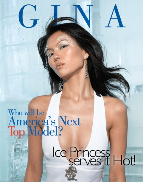 """The Girl Who is A True Miss Diva""--Gina, Translator; age 21 of Tampa, Fla., poses on a set made of ice in AMERICA'S NEXT TOP MODEL, (cycle 6) on UPN.   Gallery Photo: Richard Reinsdorf/UPN. ©2006 CBS Broadcasting Inc.  All Rights Reserved"