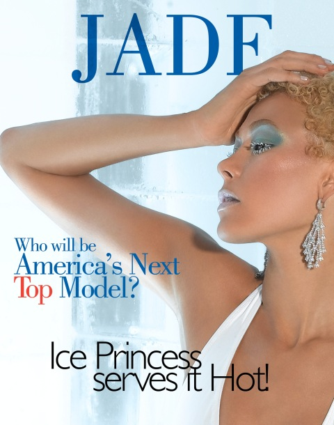 """""""The Girl Who is A True Miss Diva""""--Jade, Restaurant Hostess; age 26 of Philadelphia, Pa., poses on a set made of ice in AMERICA'S NEXT TOP MODEL, (cycle 6) on UPN.   Gallery Photo: Richard Reinsdorf/UPN. ©2006 CBS Broadcasting Inc.  All Rights Reserved"""