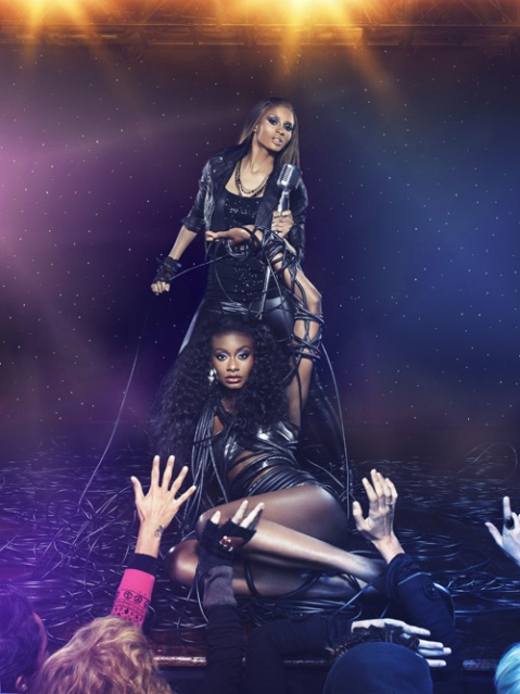 """Take Me To The Photo Shoot"" -- The girls join Grammy Award-winning recording artist Ciara on the musical stage for a photo shoot on America's Next Top Model on The CW. Pictured: Ciara and Aminat Cycle 12 Photo: Michael Riuz/Pottle Productions Inc ©2008 Pottle Productions Inc. All Rights Reserved."