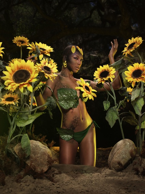 """The Girl Who Goes Bald"" -- The girls participate in a runway challenge and ""pose-off"" in a jungle photo shoot on America's Next Top Model on The CW. (cycle 9) Pictured: Bianca Photo: Lionel Deluy/Pottle Productions Inc ©2007 Pottle Productions Inc. All Rights Reserved."