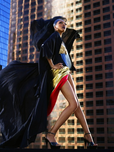 """The Girl Who Is Afraid of Heights"" -- The girls participate in a photo shoot on top of a building where they must pose as fashion gargoyles, on America's Next Top Model on The CW. (cycle 9)Pictured: Bianca Photo: Mike Rosenthal/Pottle Productions Inc ©2007 Pottle Productions Inc. All Rights Reserved."