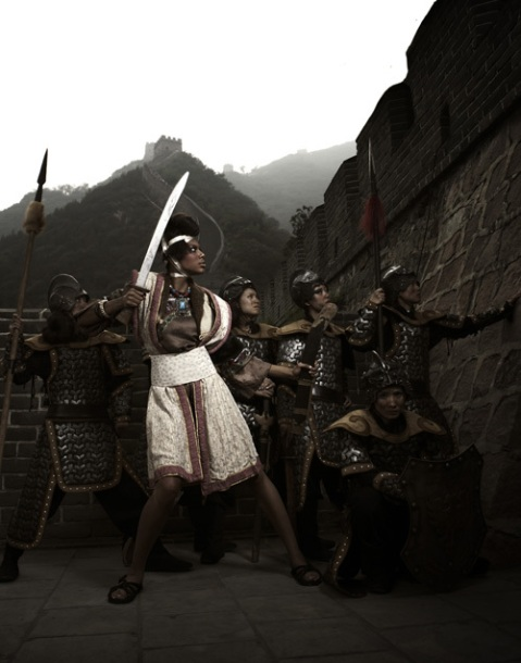 """The Girls Go To The Great Wall"" -- The girls participate in a warrior-themed photo shoot photographed by Tyra Banks on America's Next Top Model on The CW. Pictured: Bianca Photo: Tyra Banks/Pottle Productions Inc ©2007 Pottle Productions Inc. All Rights Reserved."