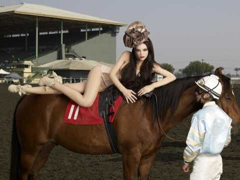 """Fortress of Fierceness"" -- This week's photo shoot takes the girls to Santa Anita Race Track where they give Lady Godiva a run for her money on America's Next Top Model on The CW. Pictured: Brittany Cycle 13 Photo: Firooz Zahedi/Pottle Productions Inc ©2009 Pottle Productions Inc. All Rights Reserved."